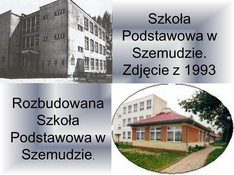 Szkoła Podstawowa w Szemudzie. Zdjęcie z 1993 Rozbudowana Szkoła Podstawowa w Szemudzie.