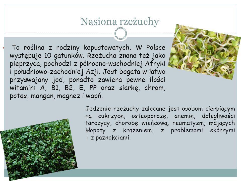 Nasiona rzeżuchy To roślina z rodziny kapustowatych. W Polsce występuje 10 gatunków. Rzeżucha znana też jako pieprzyca, pochodzi z północno-wschodniej