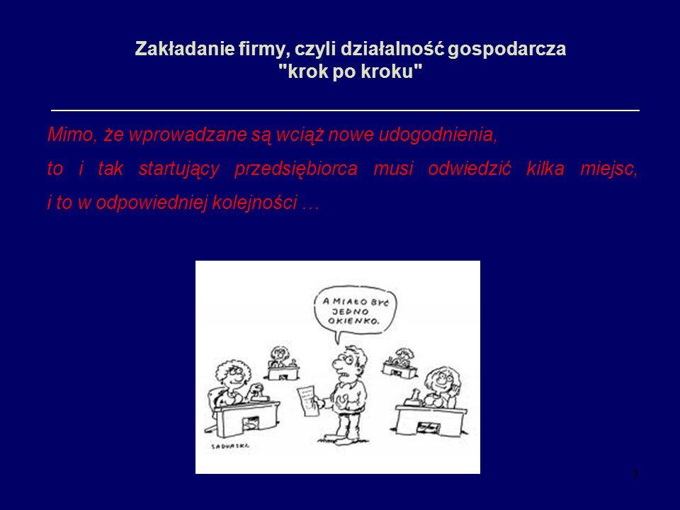 7 Zakładanie firmy, czyli działalność gospodarcza