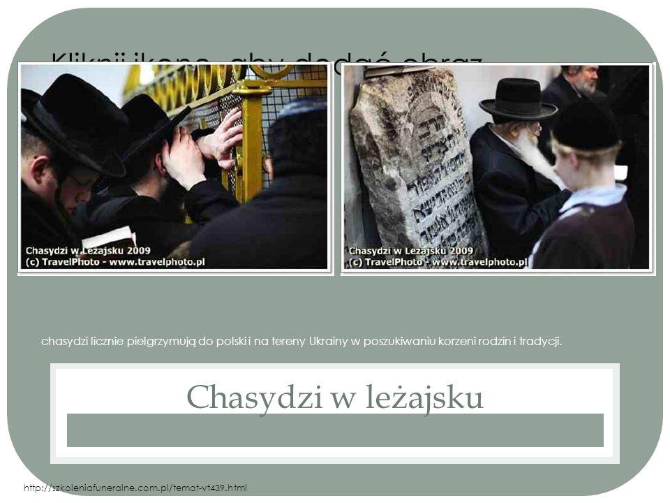Kliknij ikonę, aby dodać obraz chasydzi licznie pielgrzymują do polski i na tereny Ukrainy w poszukiwaniu korzeni rodzin i tradycji. Chasydzi w leżajs