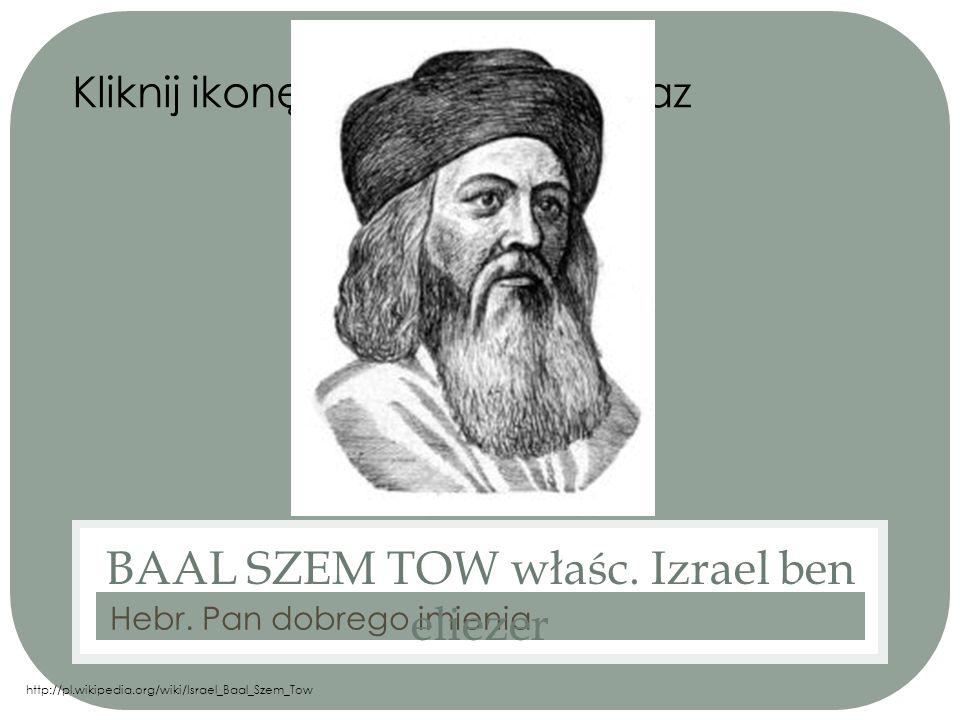 BIOGRAFIA Baal Szem Tow urodził się w 1700r w Okopach Świętej Trójcy zmarł zaś w 1760 w Międzyborzu.