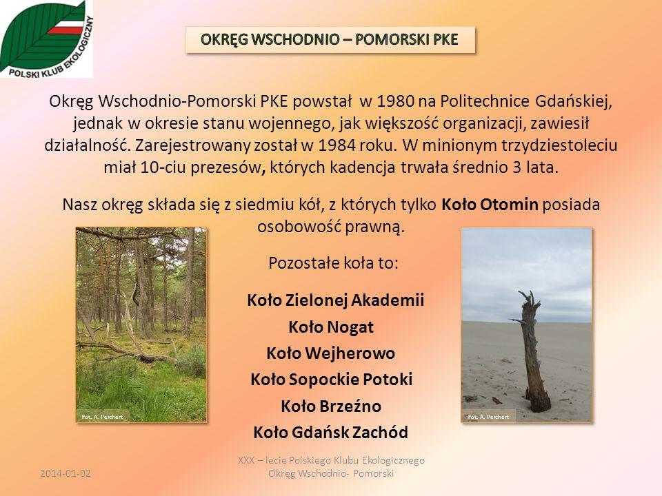 Okręg Wschodnio-Pomorski PKE powstał w 1980 na Politechnice Gdańskiej, jednak w okresie stanu wojennego, jak większość organizacji, zawiesił działalno