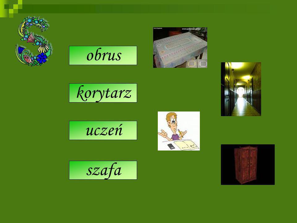 serwet szrank siyń szkolorz szafa uczeń korytarz obrus