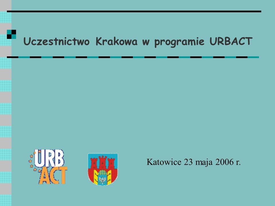 Kraków w dwóch sieciach w ramach Urbactu Październik 2004 – sieć CHORUS – Kraków otrzymuje status miasta eksperckiego Maj 2005 - sieć URBANITAS – Kraków przystępuje do sieci jako partner