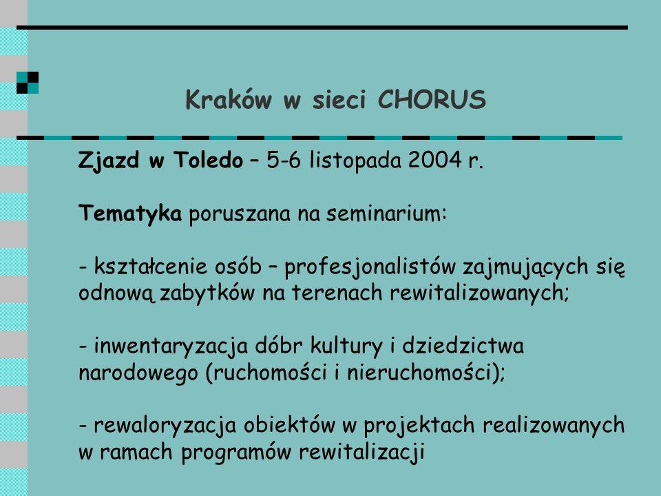Kraków w sieci CHORUS Seminaria: - marzec 2005 r.