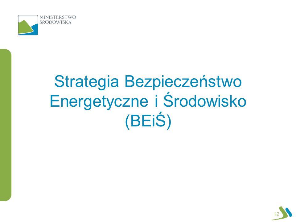12 Strategia Bezpieczeństwo Energetyczne i Środowisko (BEiŚ)