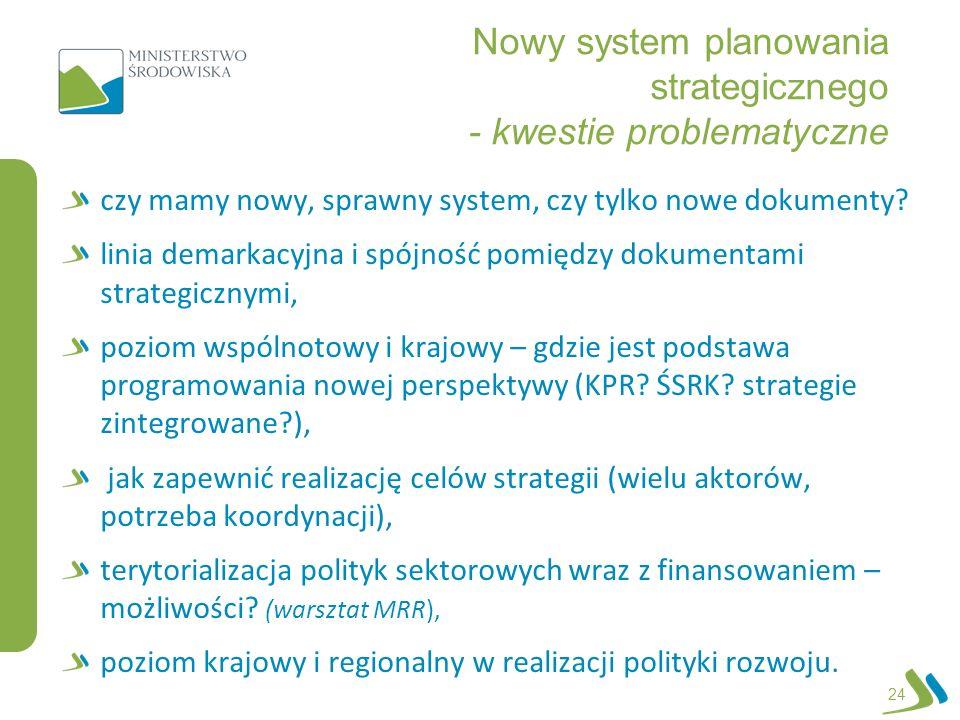 Nowy system planowania strategicznego - kwestie problematyczne czy mamy nowy, sprawny system, czy tylko nowe dokumenty? linia demarkacyjna i spójność