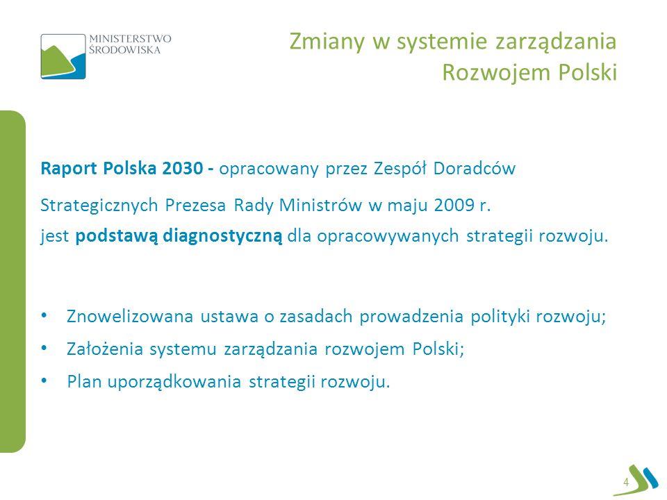 Zmiany w systemie zarządzania Rozwojem Polski Raport Polska 2030 - opracowany przez Zespół Doradców Strategicznych Prezesa Rady Ministrów w maju 2009