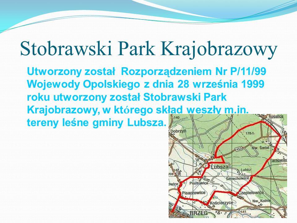 Stobrawski Park Krajobrazowy Utworzony został Rozporządzeniem Nr P/11/99 Wojewody Opolskiego z dnia 28 września 1999 roku utworzony został Stobrawski