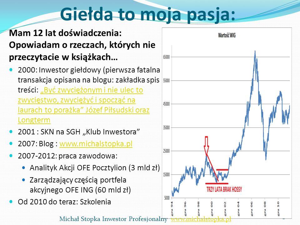 Wartość firmy=TV stały wzrost g Wartość firmy dla stałej stopy wzrostu w nieskończoność = g = 2% FCFF ostatni rok prognozy * (1+g)/(stopa zwrotu-g), czyli: 0,810 * (1+2%)/(10%-2%) = 0,826/0,08 = 10,33 g nie może być wyższe niż dynamika PKB...