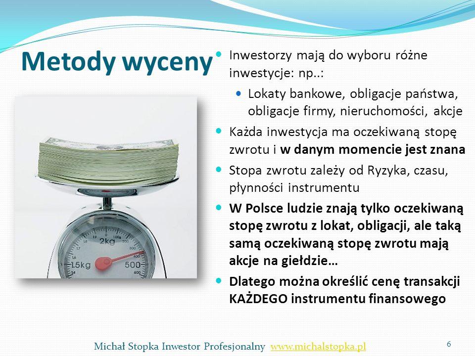 7 Michał Stopka Inwestor Profesjonalny www.michalstopka.plwww.michalstopka.pl