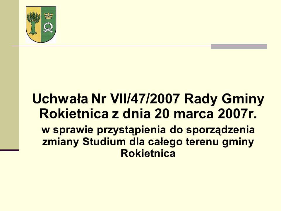 Uchwała Nr VII/47/2007 Rady Gminy Rokietnica z dnia 20 marca 2007r. w sprawie przystąpienia do sporządzenia zmiany Studium dla całego terenu gminy Rok