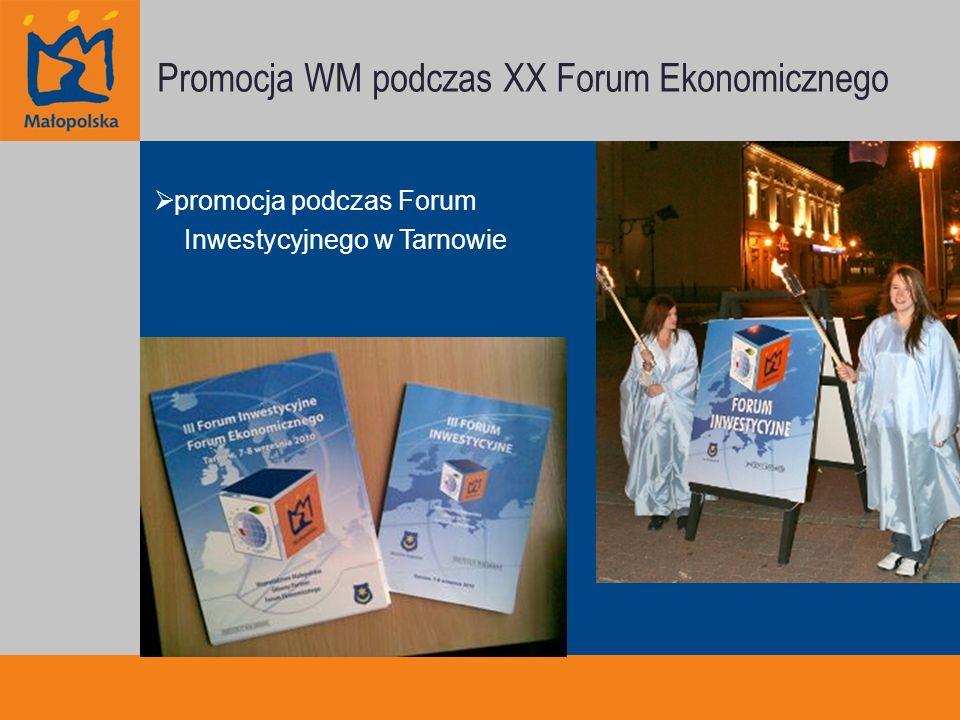 Promocja WM podczas XX Forum Ekonomicznego promocja podczas Forum Inwestycyjnego w Tarnowie