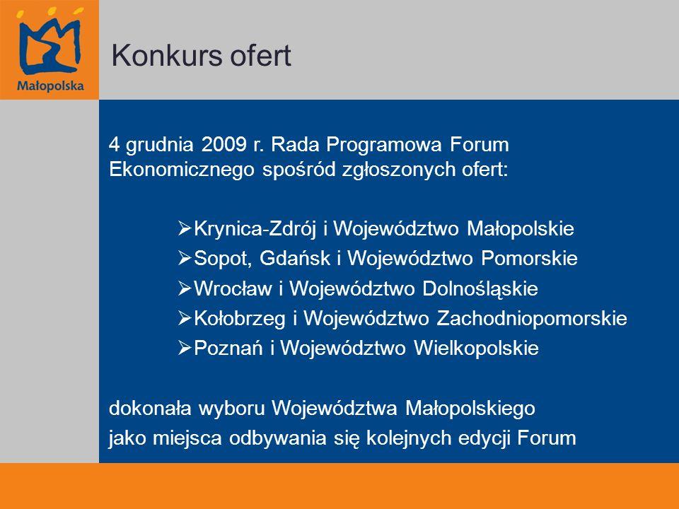 Konkurs ofert 4 grudnia 2009 r.