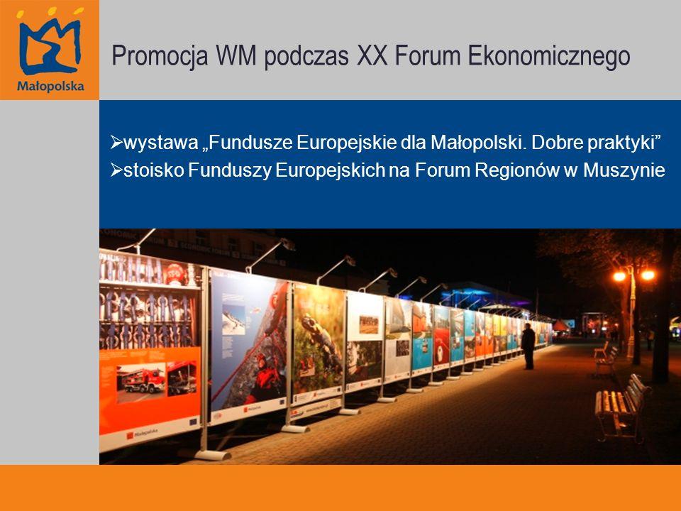 Promocja WM podczas XX Forum Ekonomicznego wystawa Fundusze Europejskie dla Małopolski.