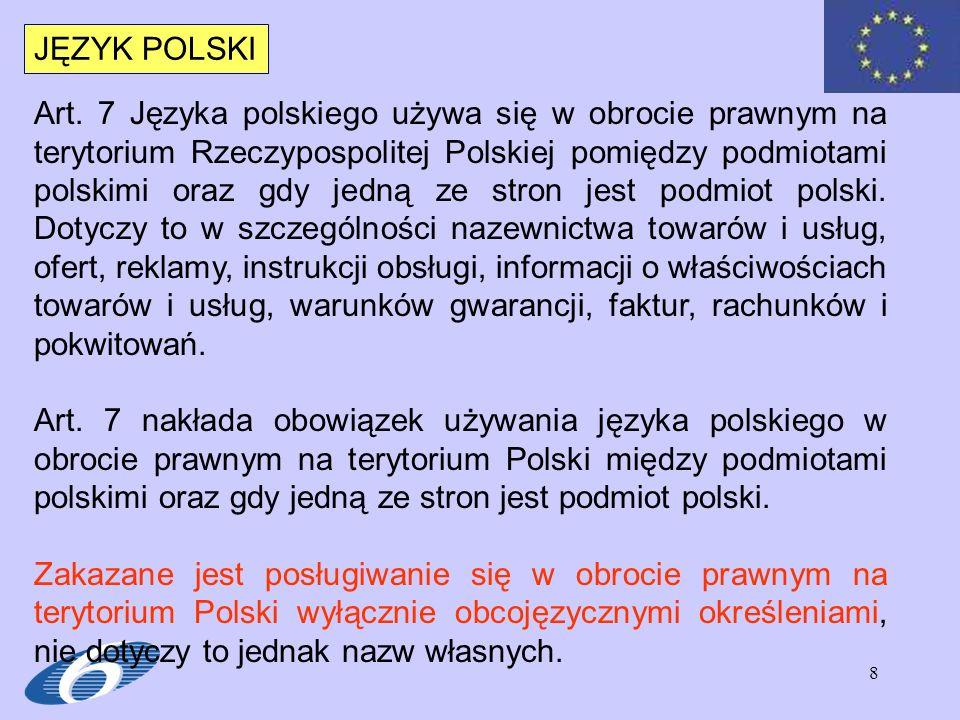 39 PRZEPISY KRAJOWE W Polsce przepisy, które obejmują w/w zakres to w szczególności Ustawa – prawo autorskie oraz Ustawa – prawo własności przemysłowej.