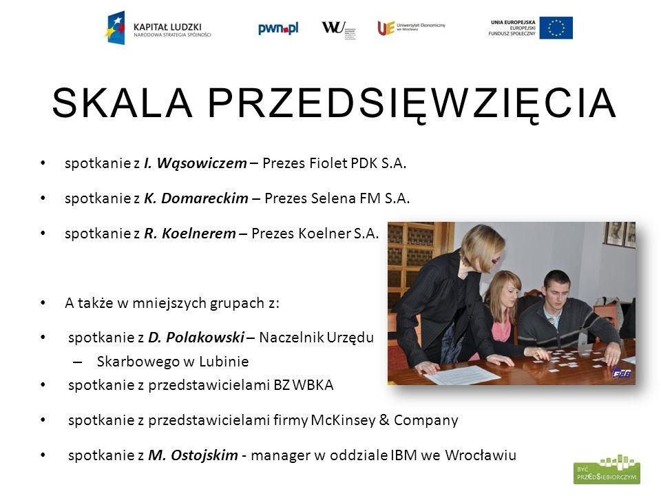 SKALA PRZEDSIĘWZIĘCIA spotkanie z I. Wąsowiczem – Prezes Fiolet PDK S.A.
