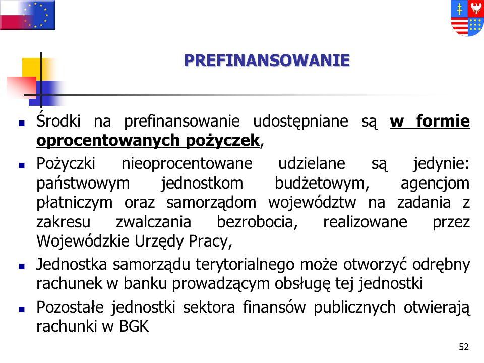 51 Podstawa Prawna – Ustawa o zmianie ustawy o finansach publicznych z dnia 16 kwietnia 2004 r. (Dz. U. Nr 93 poz. 890) Zgodnie z zapisami powyższej u