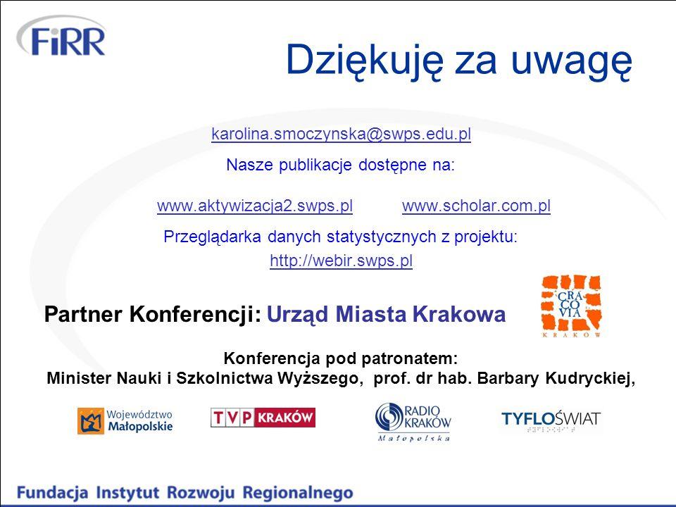 Dziękuję za uwagę karolina.smoczynska@swps.edu.pl Nasze publikacje dostępne na: www.aktywizacja2.swps.pl www.scholar.com.pl www.aktywizacja2.swps.plww