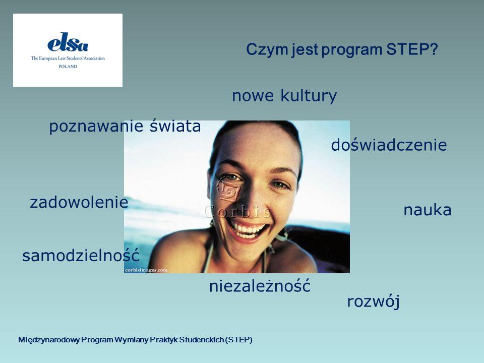 Międzynarodowy Program Wymiany Praktyk Studenckich (STEP) Czym jest program STEP? rozwój nowe kultury doświadczenie poznawanie świata zadowolenie nauk