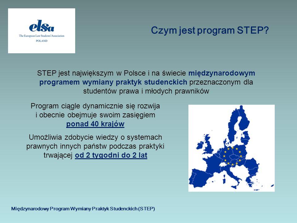 Międzynarodowy Program Wymiany Praktyk Studenckich (STEP) Czym jest program STEP? STEP jest największym w Polsce i na świecie międzynarodowym programe