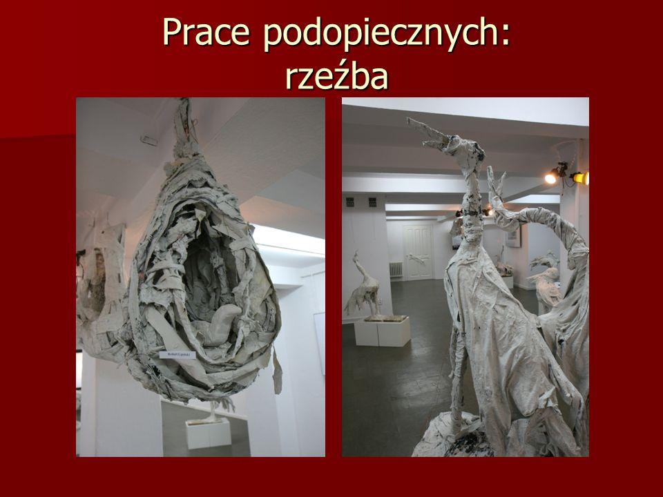 Prace podopiecznych: rzeźba