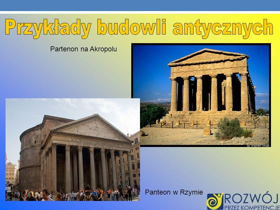 Panteon w Rzymie Partenon na Akropolu