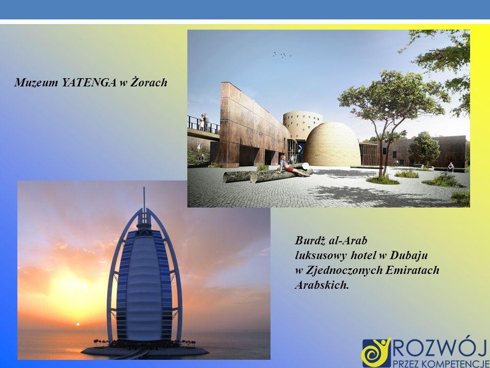 Muzeum YATENGA w Żorach Burdż al-Arab luksusowy hotel w Dubaju w Zjednoczonych Emiratach Arabskich.