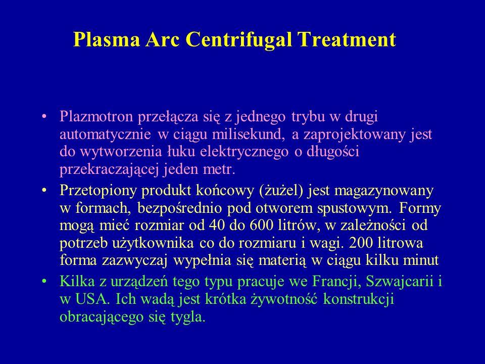 Plasma Arc Centrifugal Treatment Plazmotron przełącza się z jednego trybu w drugi automatycznie w ciągu milisekund, a zaprojektowany jest do wytworzen