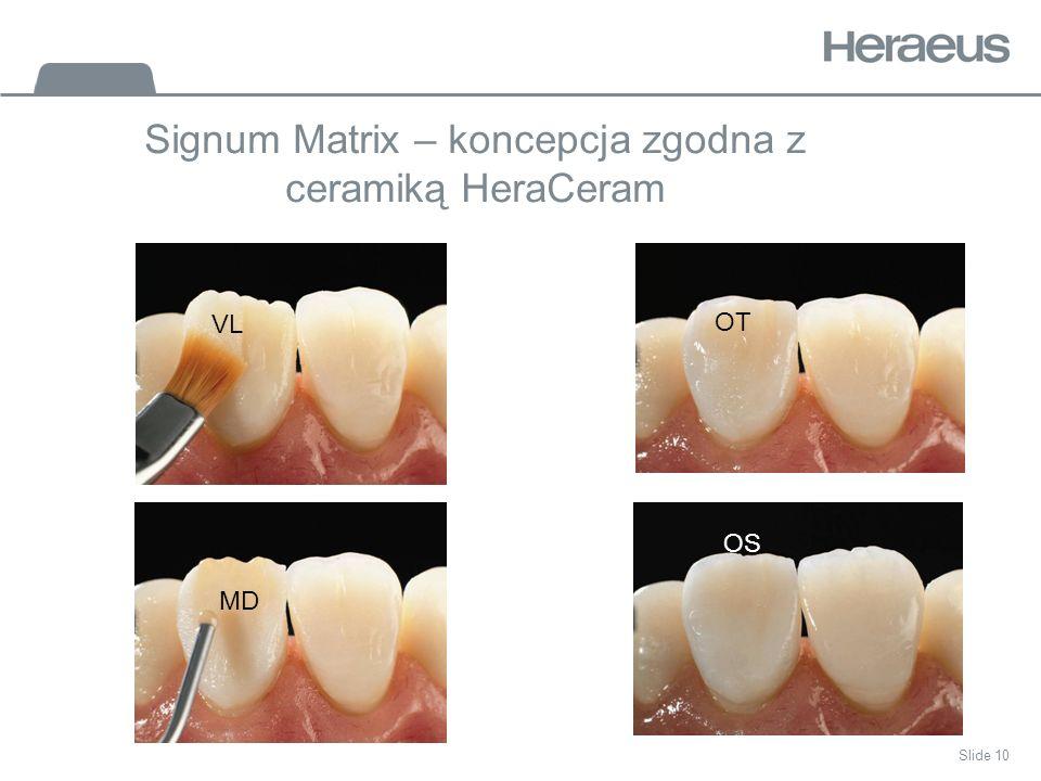 Slide 10 Signum Matrix – koncepcja zgodna z ceramiką HeraCeram VL MD OT OS
