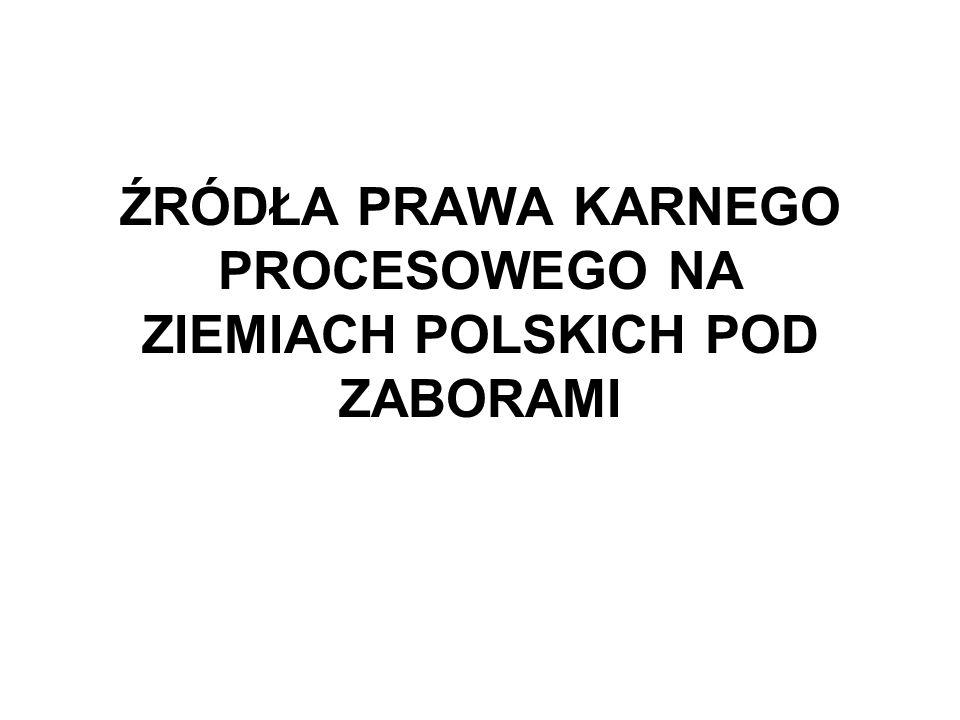 DATAZABÓR PRUSKI KSIĘSTWO WARSZAW SKIE KRÓLESTW O POLSKIE ZABÓR ROSYJSKI GALICJA I RZECZPOSPOLI TA KRAKOWSKA ZABÓR AUSTRIACKI 1772I zabór – Landrecht wschodniopruski (1721) znowelizowany w l.
