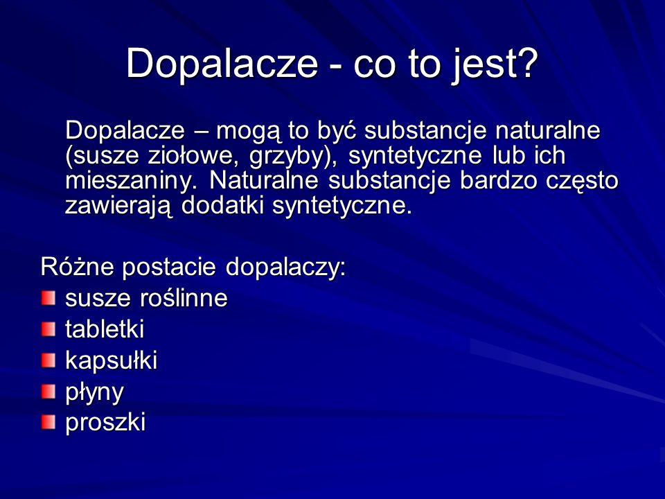 SUBSTANCJA PSYCHOAKTYWNA (substancja psychotropowa) – to każda substancja chemiczna oddziałująca na centralny układ nerwowy, bezpośrednio wpływając na