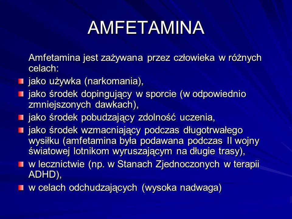 AMFETAMINA Pochodne : MDA = 3,4-metylenedioksyamfetamina (