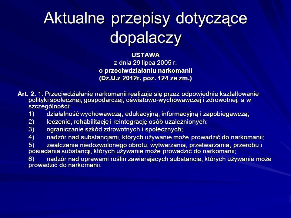 Jak widać, określenie dopalacze, podobnie jak określenie narkotyki, odnosi się do całej gamy substancji o różnej charakterystyce działania na organizm