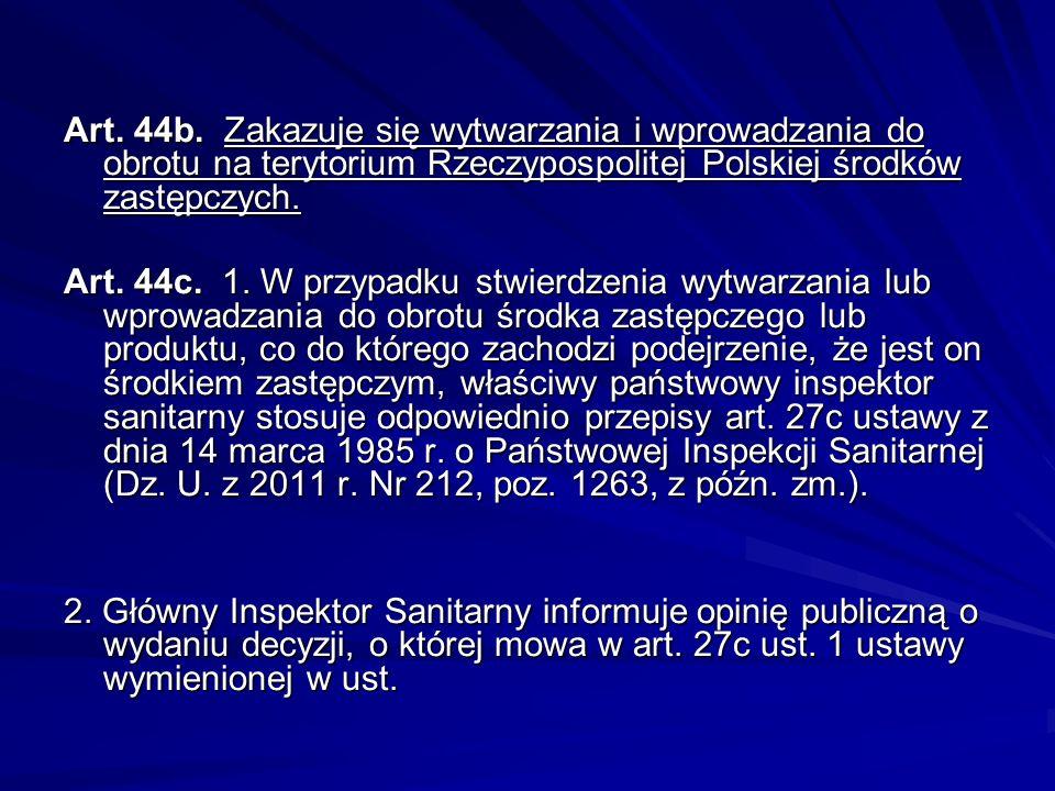 Art. 20. 1. Zabrania się reklamy i promocji substancji psychotropowych lub środków odurzających. 2. Produkty lecznicze zawierające substancje psychotr