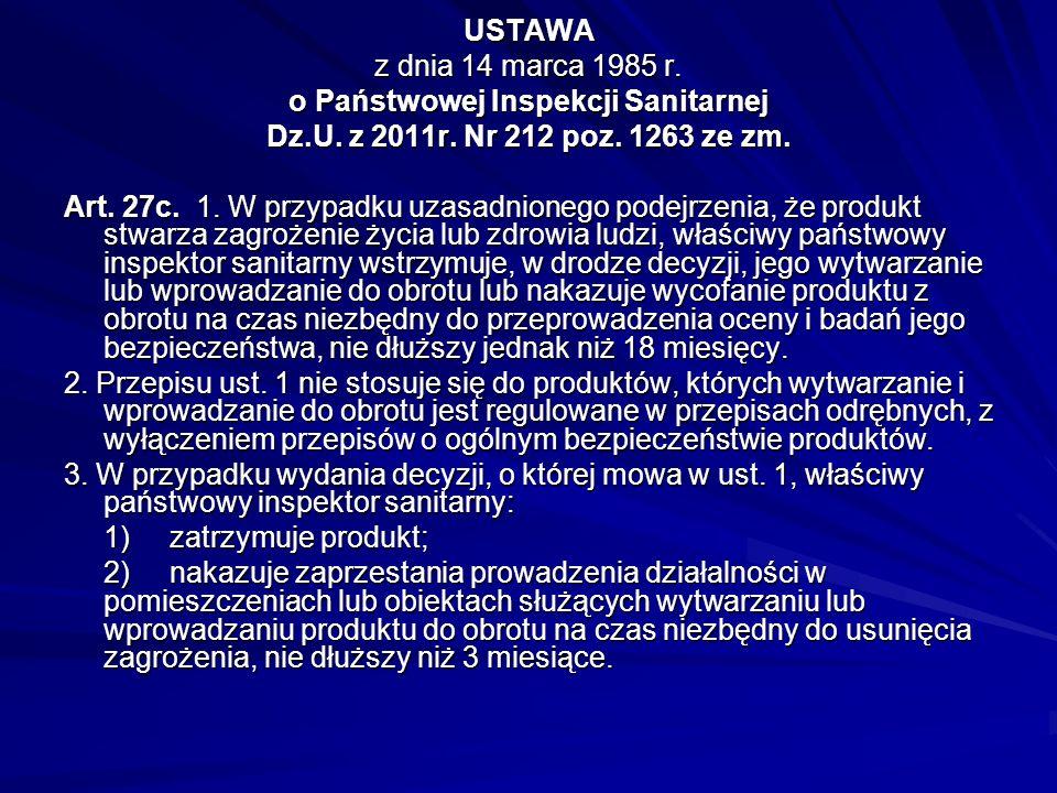 Art. 44b. Zakazuje się wytwarzania i wprowadzania do obrotu na terytorium Rzeczypospolitej Polskiej środków zastępczych. Art. 44c. 1. W przypadku stwi