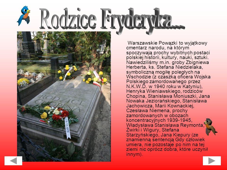 Warszawskie Powązki to wyjątkowy cmentarz narodu, na którym spoczywają prochy wybitnych postaci polskiej historii, kultury, nauki, sztuki.
