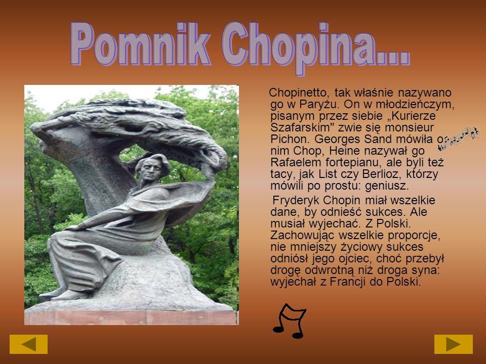 Chopinetto, tak właśnie nazywano go w Paryżu.