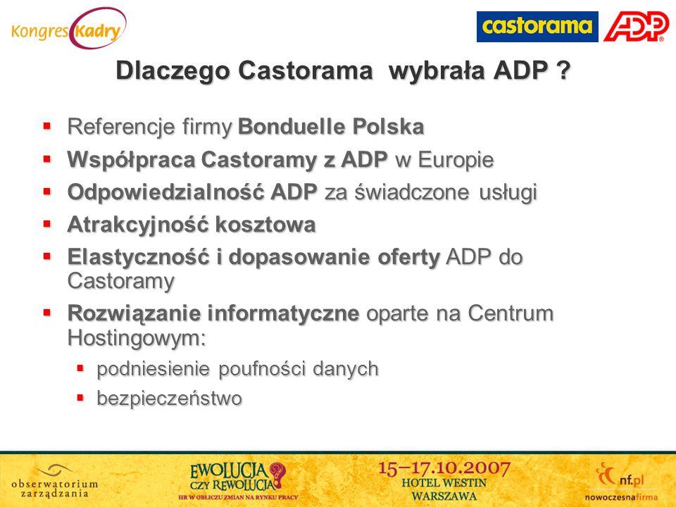 Referencje firmy Bonduelle Polska Referencje firmy Bonduelle Polska Współpraca Castoramy z ADP w Europie Współpraca Castoramy z ADP w Europie Odpowied
