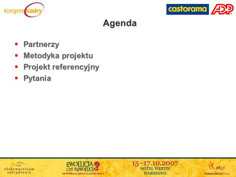 Agenda Partnerzy Partnerzy Metodyka projektu Metodyka projektu Projekt referencyjny Projekt referencyjny Pytania Pytania