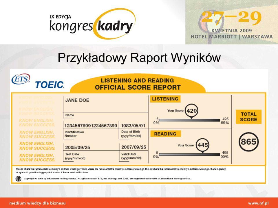 Przykładowy Raport Wyników