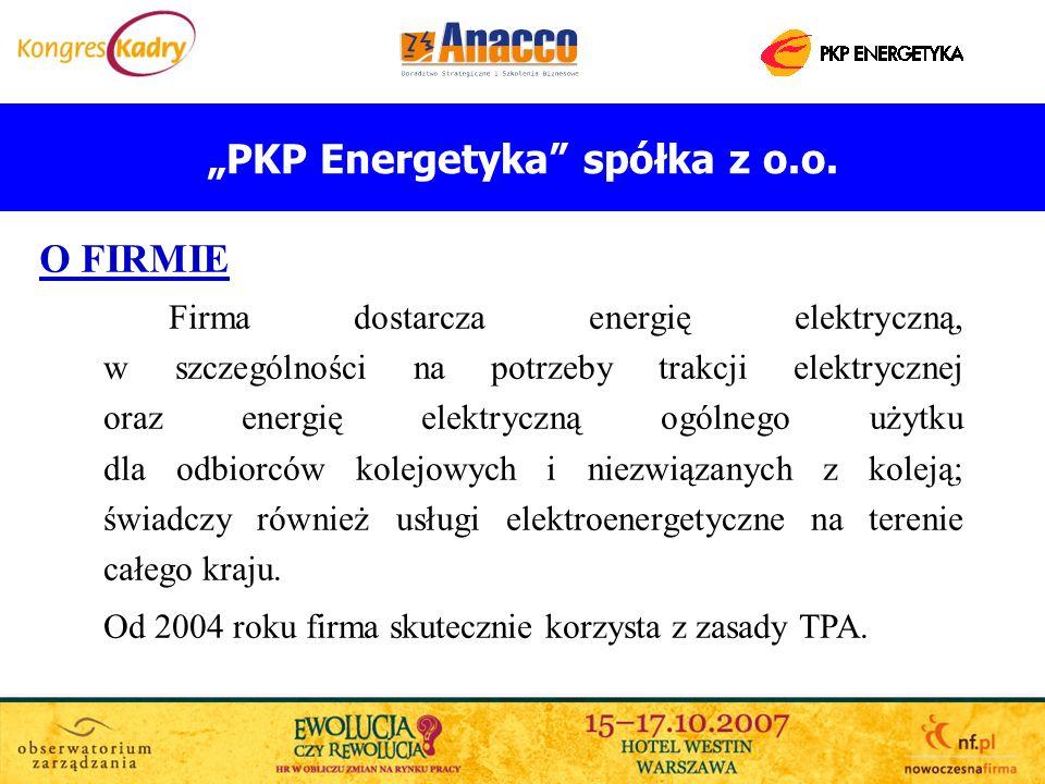 PKP Energetyka spółka z o.o. O FIRMIE Firma dostarcza energię elektryczną, w szczególności na potrzeby trakcji elektrycznej oraz energię elektryczną o