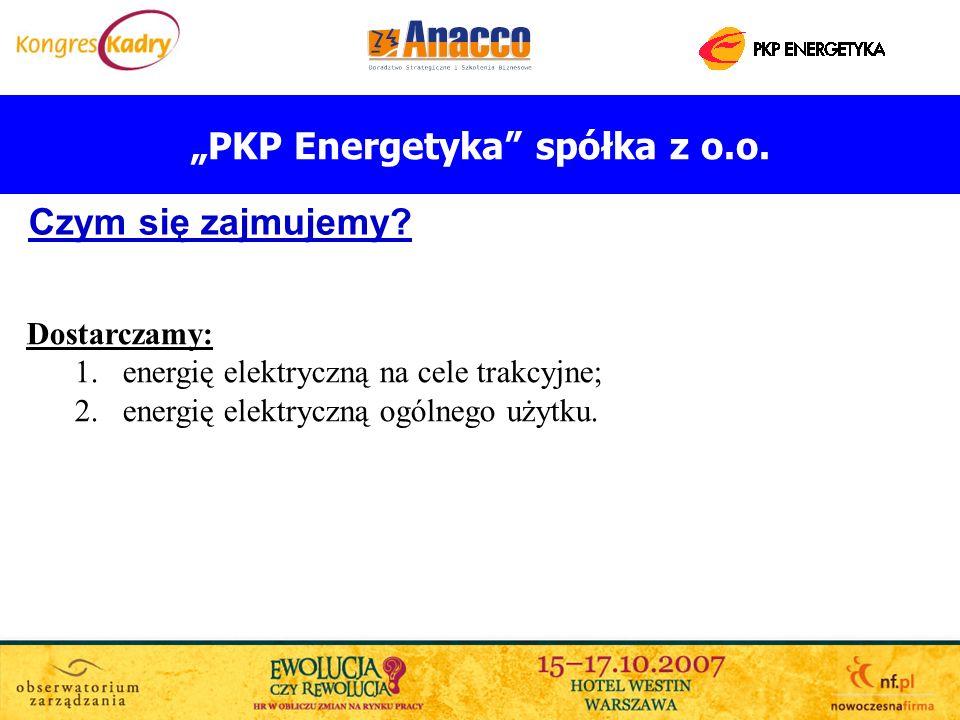 PKP Energetyka spółka z o.o. Czym się zajmujemy? Dostarczamy: 1.energię elektryczną na cele trakcyjne; 2.energię elektryczną ogólnego użytku.