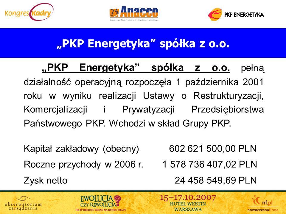 PKP Energetyka spółka z o.o. pełną działalność operacyjną rozpoczęła 1 października 2001 roku w wyniku realizacji Ustawy o Restrukturyzacji, Komercjal