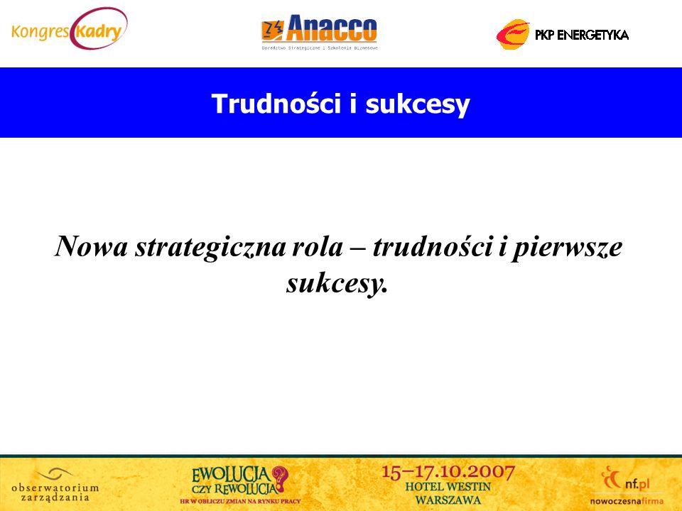 Trudności i sukcesy Nowa strategiczna rola – trudności i pierwsze sukcesy.