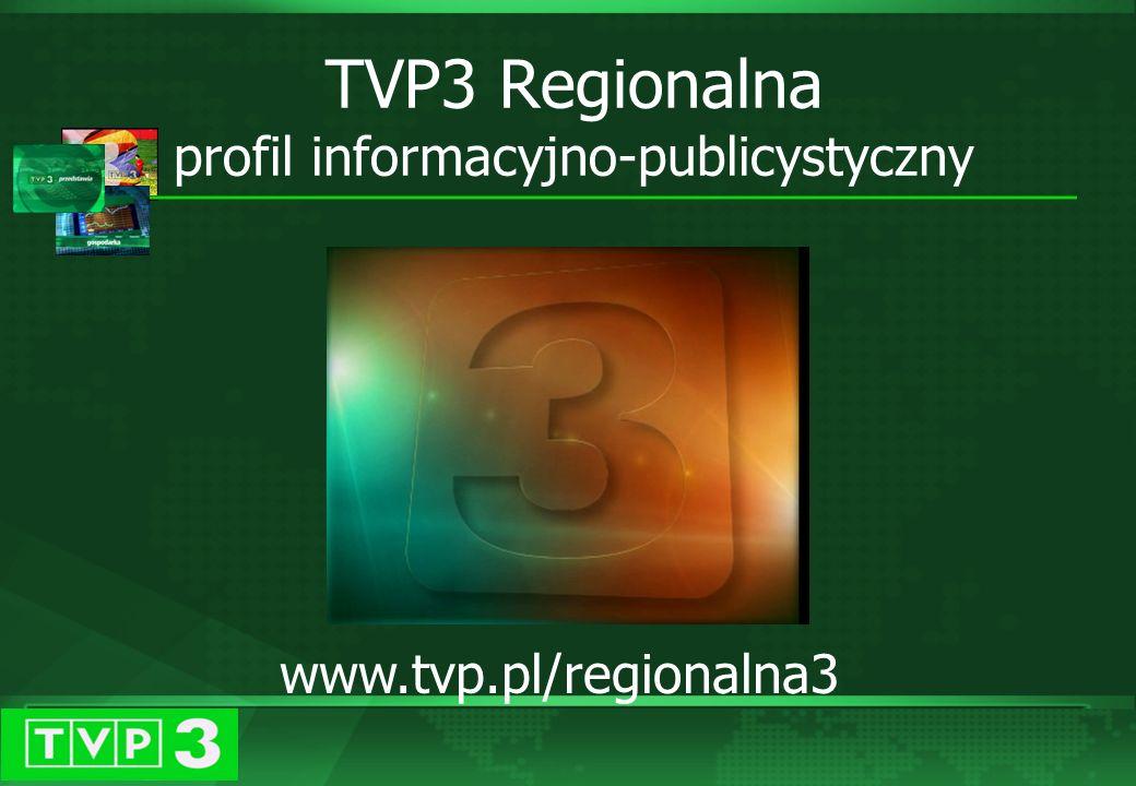 Grudzień 2003 TVP 3 Regionalna w 2003 roku objęła patronatem medialnym ponad 400 różnego rodzaju imprez i akcji społecznych.