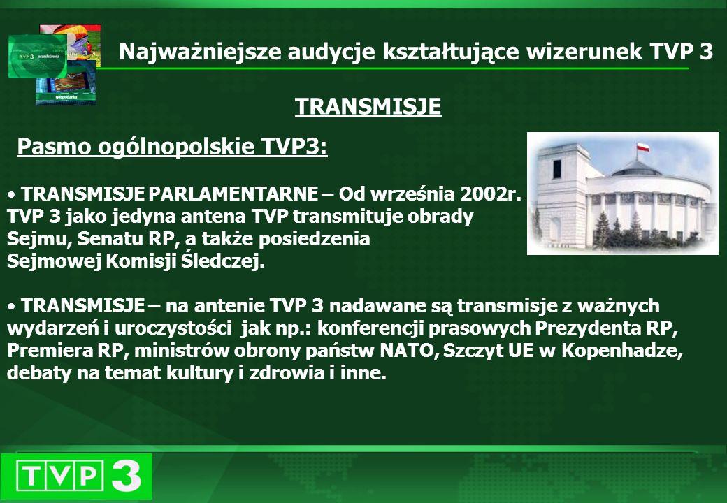 Październik 2003 Kampania reklamowa TVP 3 TVP 3 widzi więcej