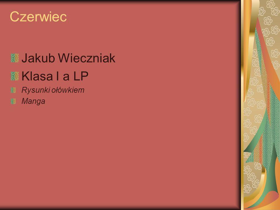 Czerwiec Jakub Wieczniak Klasa I a LP Rysunki ołówkiem Manga