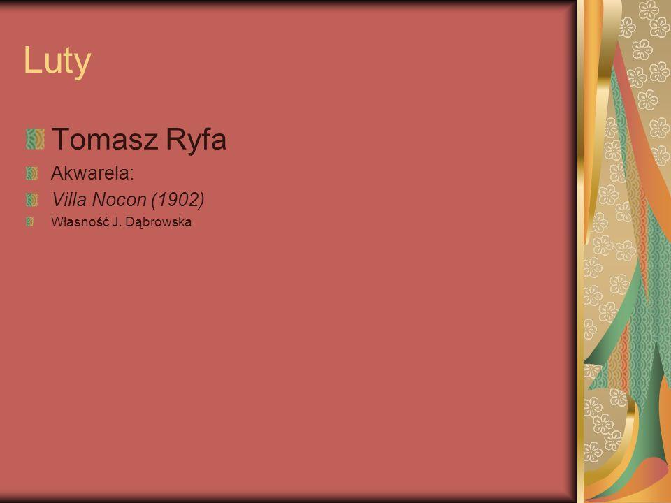 Luty Tomasz Ryfa Akwarela: Villa Nocon (1902) Własność J. Dąbrowska