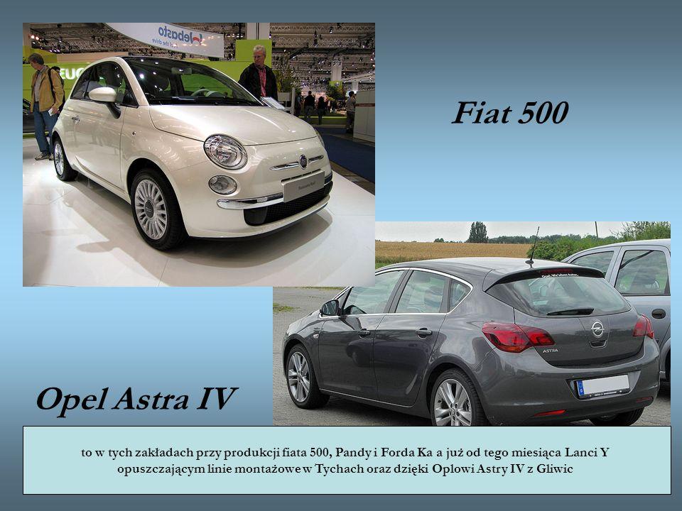 Fiat 500 Opel Astra IV to w tych zakładach przy produkcji fiata 500, Pandy i Forda Ka a już od tego miesiąca Lanci Y opuszczającym linie montażowe w T